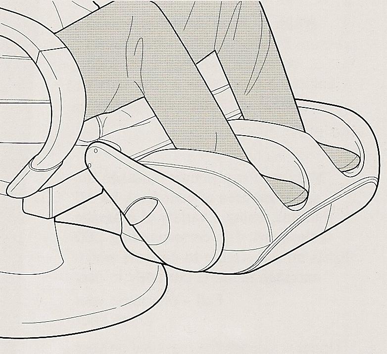 Массаж стоп в массажном кресле Human Touch HT-270