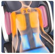 воздушный массаж плеч и спины в массажном кресле Fujiiryoki ec-3000