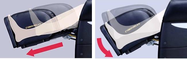 Растяжка ног в японском массажном кресле Fujiiryoki EC-2700