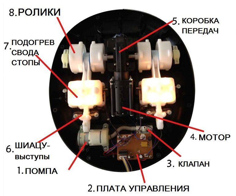 массажный механизм массажера стоп дуня эллотен